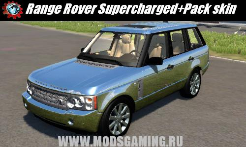 BeamNG DRIVE скачать мод Range Rover Supercharged 2008+Pack skin