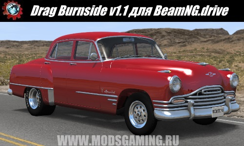 BeamNG.drive download mod car Drag Burnside v1.1