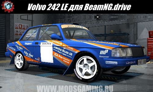 BeamNG.drive download mod car Volvo 242 LE