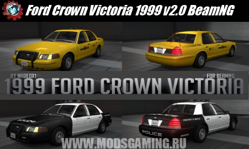 BeamNG DRIVE download mod car Ford Crown Victoria 1999 v2.0