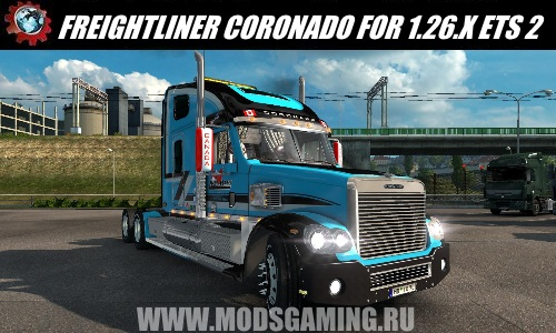 Euro Truck Simulator 2 download mod truck FREIGHTLINER CORONADO FOR 1.26.X