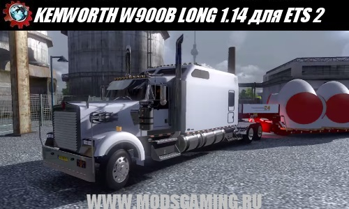 Euro Truck Simulator 2 download mod truck KENWORTH W900B LONG 1.14