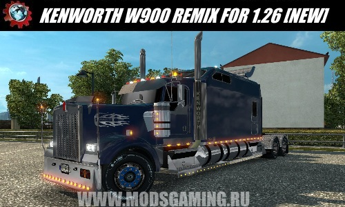 Euro Truck Simulator 2 download mod truck KENWORTH W900 REMIX FOR 1.26 [NEW]