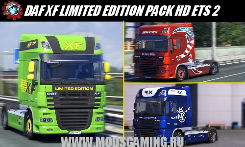 Euro Truck Simulator 2 download mod truck DAF XF LIMITED EDITION PACK HD