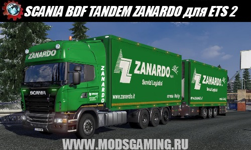 Euro Truck Simulator 2 download mod car SCANIA BDF TANDEM ZANARDO