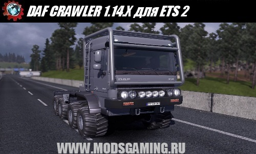 Euro Truck Simulator 2 скачать мод машина DAF CRAWLER & HIGH LIFT UPDATE 1.14.X