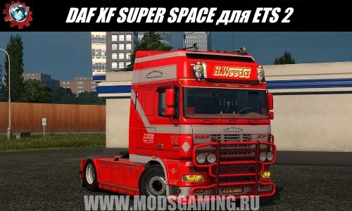 Euro Truck Simulator 2 download mod truck DAF XF SUPER SPACE CAB WEEDA