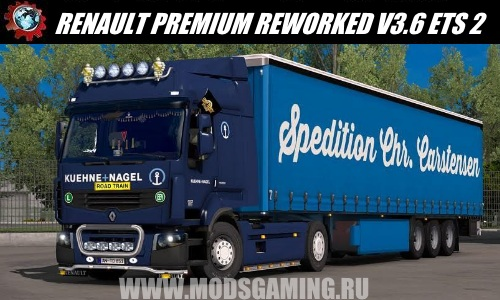 Euro Truck Simulator 2 download mod truck RENAULT PREMIUM REWORKED V3.6
