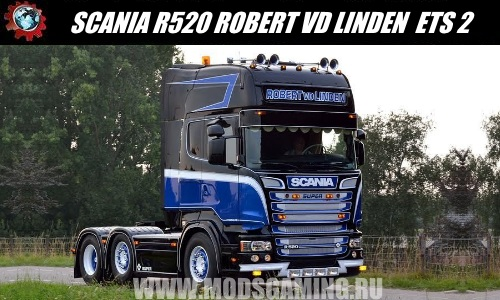 Euro Truck Simulator 2 download mod truck SCANIA R520 ROBERT VD LINDEN