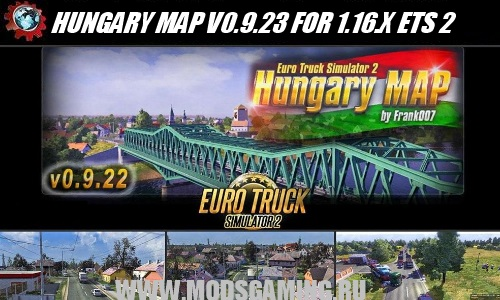 Euro Truck Simulator 2 download map mod HUNGARY MAP V0.9.23 FOR 1.16.X