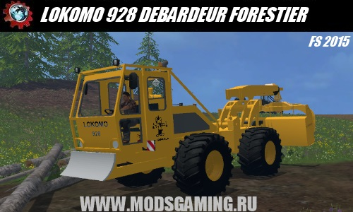 Farming Simulator 2015 download mod LOKOMO 928 DEBARDEUR FORESTIER V1.2