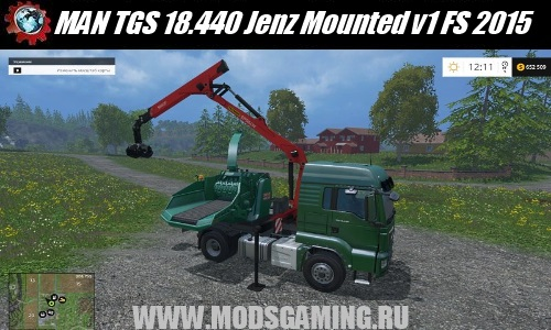 Farming Simulator 2015 mod download MAN TGS 18.440 Jenz Mounted v1