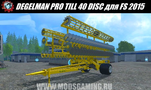 Farming Simulator 2015 download mod cultivator DEGELMAN PRO TILL 40 DISC
