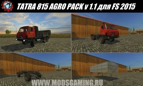 Farming Simulator 2015 download mod pack trucks TATRA 815 AGRO PACK v 1.1