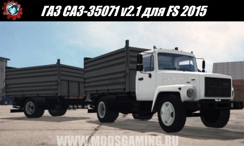 Farming Simulator 2015 download mod truck GAZ SAZ-35071 v2.1
