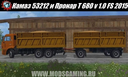 Farming Simulator 2015 download mod Truck Kamaz 53212 and PRONAR T 680 v 1.0