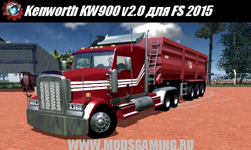 Farming Simulator 2015 download mod truck Kenworth KW900 v2.0