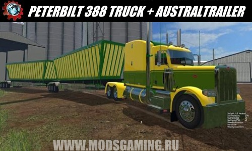 Farming Simulator 2015 download mod Truck PETERBILT 388 TRUCK + AUSTRALIA TRAILER