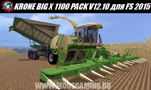 Farming Simulator 2015 download mod harvester KRONE BIG X 1100 BEASTPACK V12.10 BETA