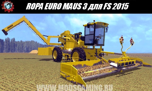Farming Simulator 2015 download the mod loader ROPA EURO MAUS 3