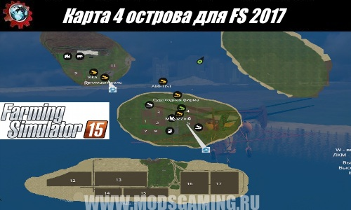 Farming Simulator 2015 download map mod 4 islands