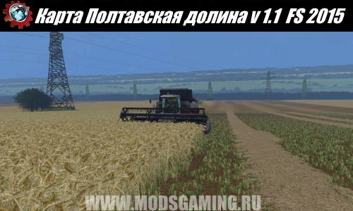 Farming Simulator 2015 download map mod Poltava Valley v 1.1