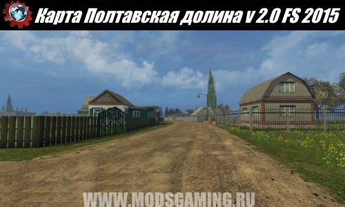 Farming Simulator 2015 download map mod Poltava Valley v 2.0