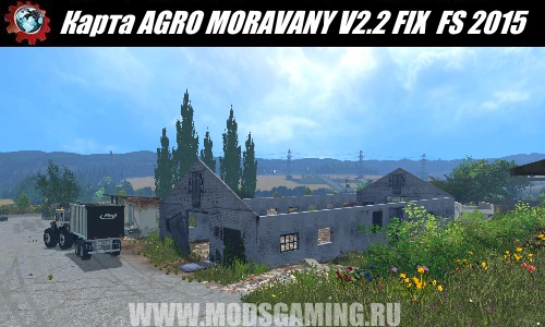 Farming Simulator 2015 download map mod AGRO MORAVANY V2.2 FIX