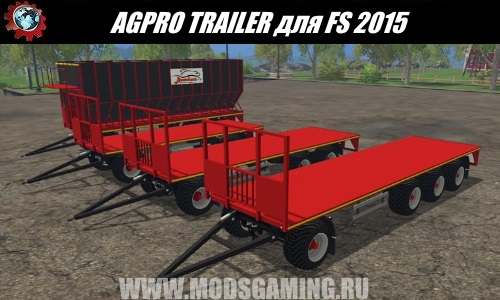 Farming Simulator 2015 mod download trailers Park AGPRO TRAILER