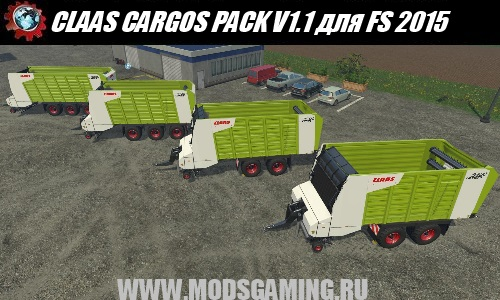 Farming Simulator 2015 download mod trailers CLAAS CARGOS PACK V1.1