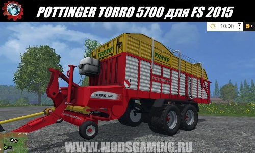 Farming Simulator 2015 download modes trailer baler POTTINGER TORRO 5700