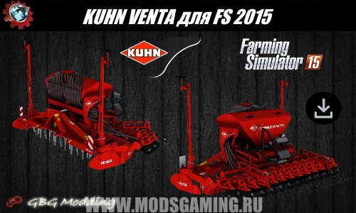 Farming Simulator 2015 download mod seeder KUHN VENTA