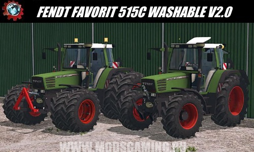 Farming Simulator 2015 download mod Tractor FENDT FAVORIT 515C WASHABLE V2.0