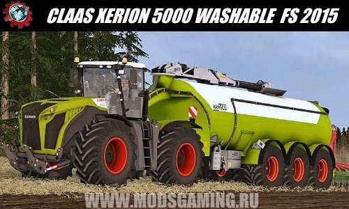 Farming Simulator 2015 download mod tractor CLAAS XERION 5000 WASHABLE FULL