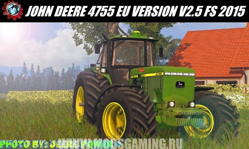Farming Simulator 2015 download mod tractor JOHN DEERE 4755 EU VERSION V2.5