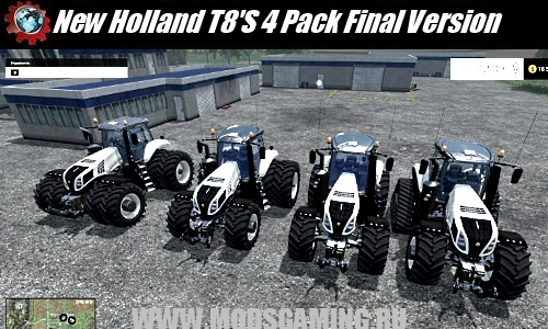 Farming Simulator 2015 download mod New Holland T8'S 4 Pack Final Version