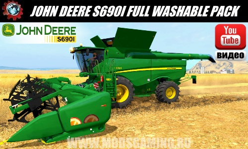 Farming Simulator 2017 download mod Harvester JOHN DEERE S690I FULL WASHABLE PACK V1.0