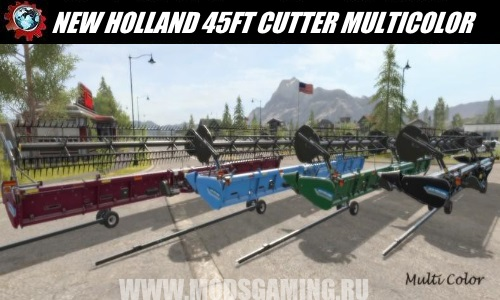 Farming Simulator 2017 download mod Harvester NEW HOLLAND 45FT CUTTER MULTICOLOR