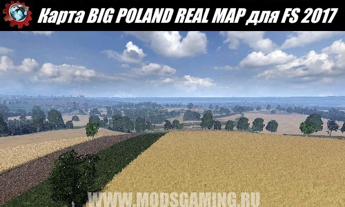 Farming Simulator 2017 download map mod BIG POLAND REAL MAP