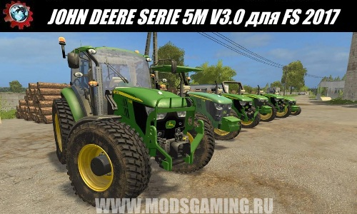 Farming Simulator 2017 download mod tractor JOHN DEERE SERIE 5M V3.