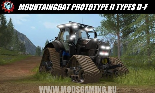Farming Simulator 2017 download mod Tractor MOUNTAINGOAT PROTOTYPE II TYPES D-F V0.9.5