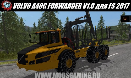 Farming Simulator 2017 download mod Lesotransprtirovschik VOLVO A40G FORWARDER V1.0