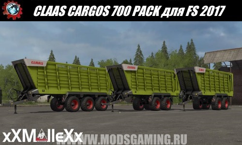 Farming Simulator 2017 mod download Pak trailers CLAAS CARGOS 700 PACK