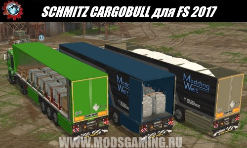 Farming Simulator 2017 mod download Pak semi-trailers SCHMITZ CARGOBULL
