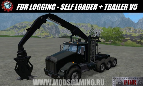 Farming Simulator 2017 download mod Truck FDR LOGGING - SELF LOADER + TRAILER V5