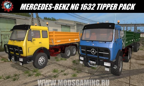 Farming Simulator 2017 download mod Truck MERCEDES-BENZ NG 1632 TIPPER PACK