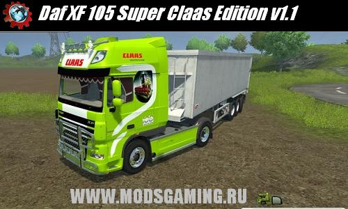 Farming Simulator 2013 скачать мод Daf XF 105 Super Claas Edition v1.1