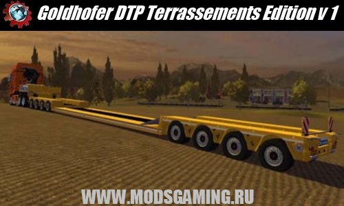 Farming Simulator 2013 скачать мод полуприцеп Goldhofer DTP Terrassements Edition v 1.0