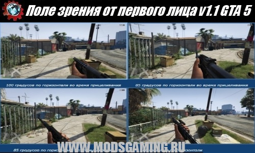 Grand Theft Auto V mod download field of view in the first person v1.1