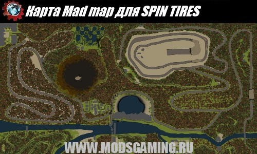 SPIN TIRES map mod download Mad map